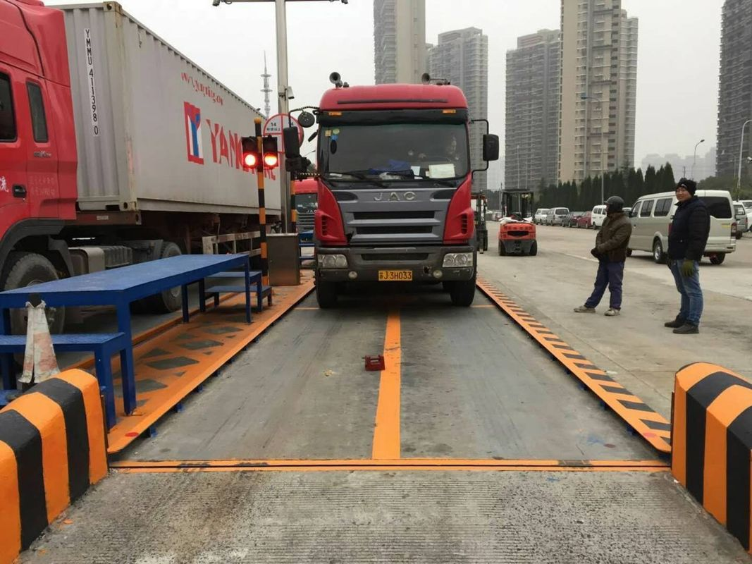 Reinforced Concrete Truck Scale Weighbridge 3*18M Vehicle Weighing Systems